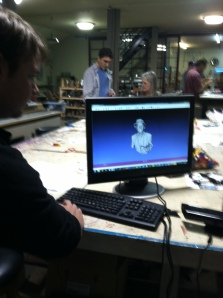 David Gapen demonstrates his amazing 3D printer at October's Meetup
